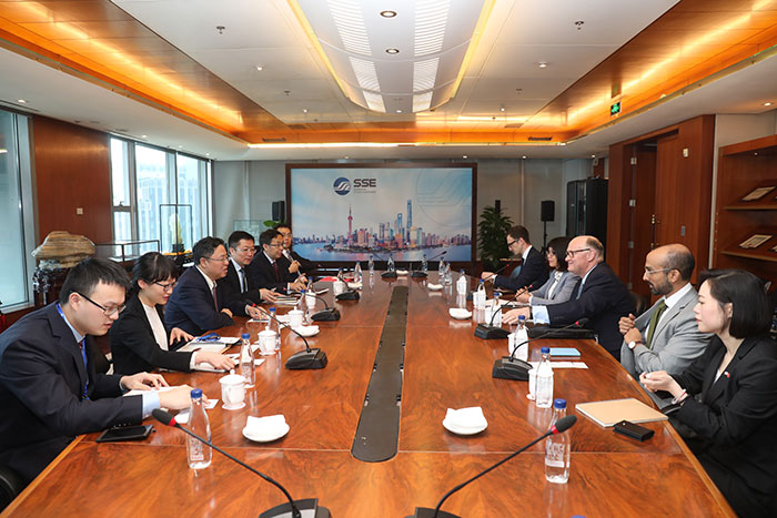 Dr. Huang Hongyuan, SSE Chairman, met with Mr. Douglas Flint, Chancellor's City Envoy to the Belt and Road Initiative